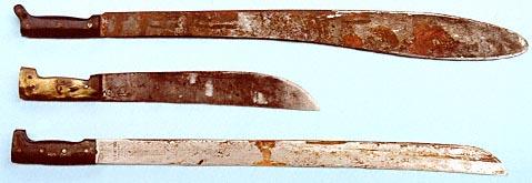 Antique Vintage Mexican Machete Knife w Etched Blade Eagle Pommel ...