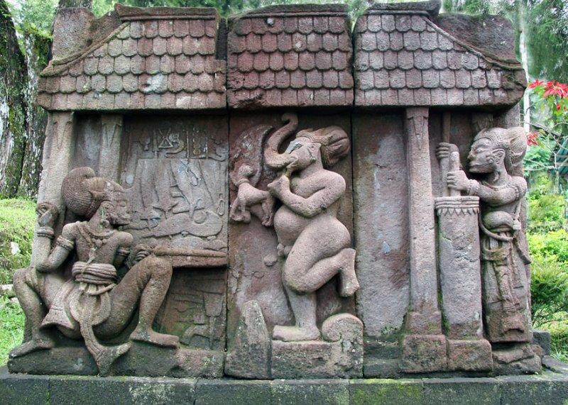 Ethnographic Arms Armour Candi Sukuh Carving Keris Mythology